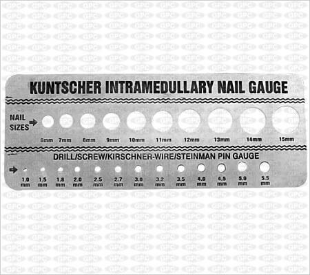 Calibrador para los Clavos Kuntscher