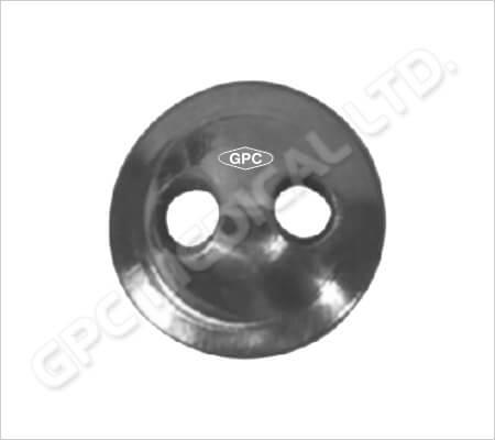 Disco de sutura estándar y cónico con 2 agujeros