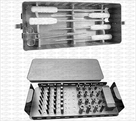 Juego De Instrumentos E Implantes Para La Columna Vertebral