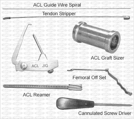 Juego de instrumentos para ACL