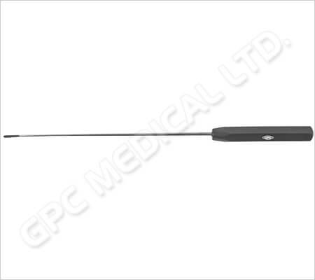 Pasador de suturas con punta agujero, recto, izquierdo y derecho