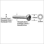 Pernos de Bloqueo de 3.4mm