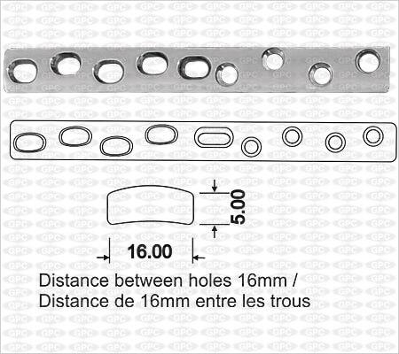 Placa de Compresión Ancha ACP(Placa de Compresión Activa) con Orificios
