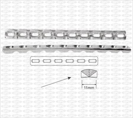 Placa de compresión dinámica de contacto limitado (LC-DCP) - Pequeña