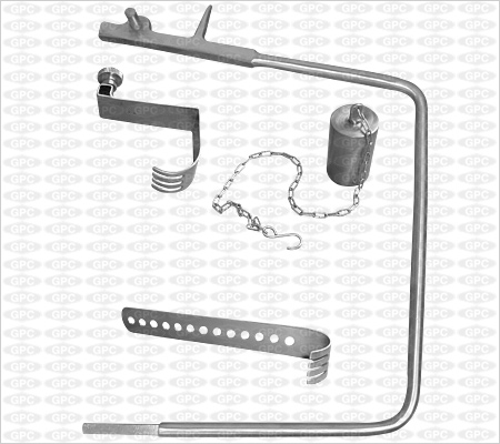 Charnley Hip Retractor with weight & Chain